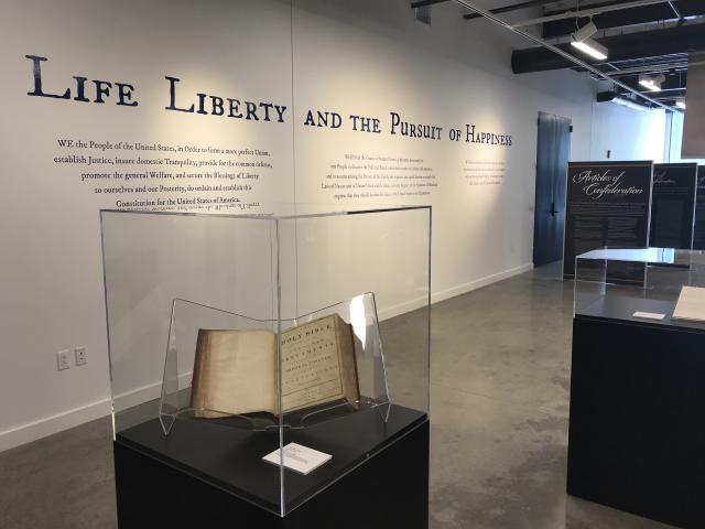 Image of the Life, Liberty, and the Pursuit of Happiness exhibit