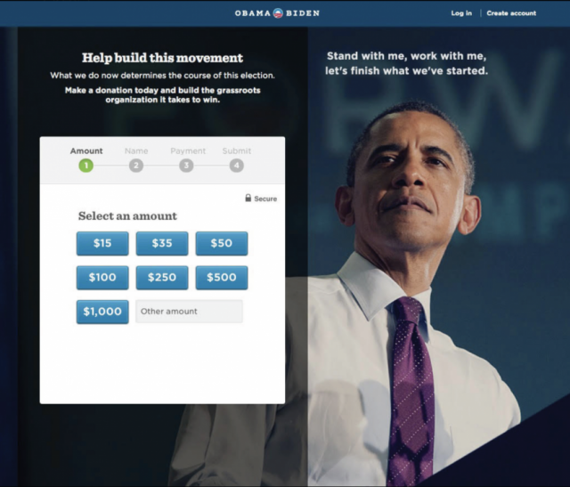 Barack Obama's campaign website
