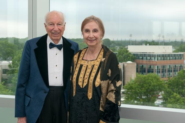 George and Dorothy Hennings at the Kean University Gala in 2013.