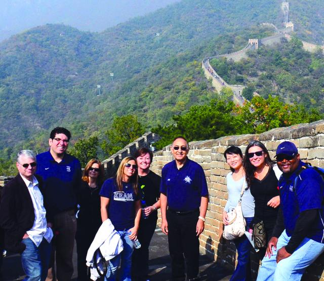 Repollet with Kean staff at the Great Wall of China.