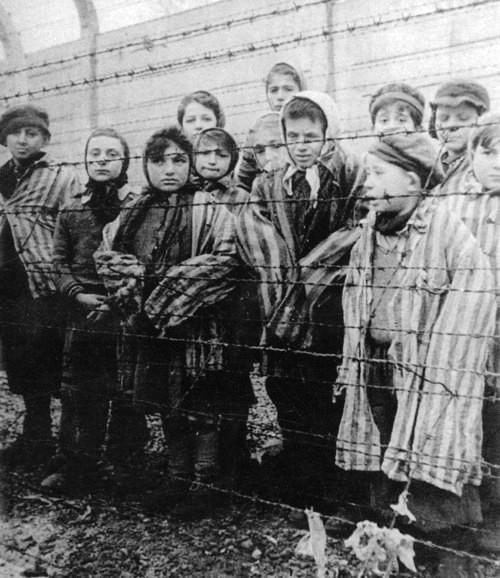 Child survivors of the Holocaust filmed few days after the liberation of Auschwitz concentration camp by the Red Army.