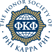 Photo of the logo for the Honor Society of Phi Kappa Phi