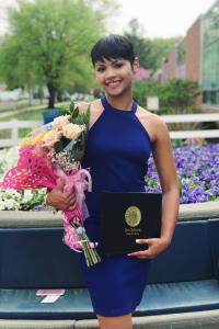 Brianna Negron '18 COE Secondary Education Alumni at Senior Honors Convocation 2018