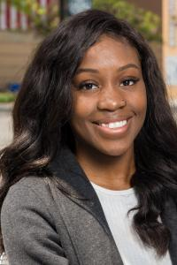 Kean University management student Ifeoma Odoemena.