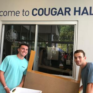 Two male Kean University Students at Cougar Hall
