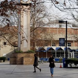 a winter day on the campus of Kean University