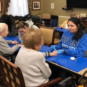 Kean volunteers visit Cranford seniors