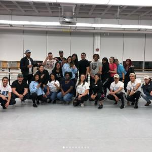 Group of Kean University Afro-latin dance performers